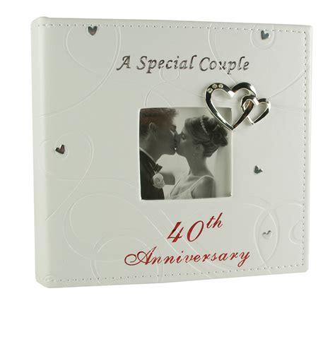 ruby 40th wedding anniversary photo album special couple