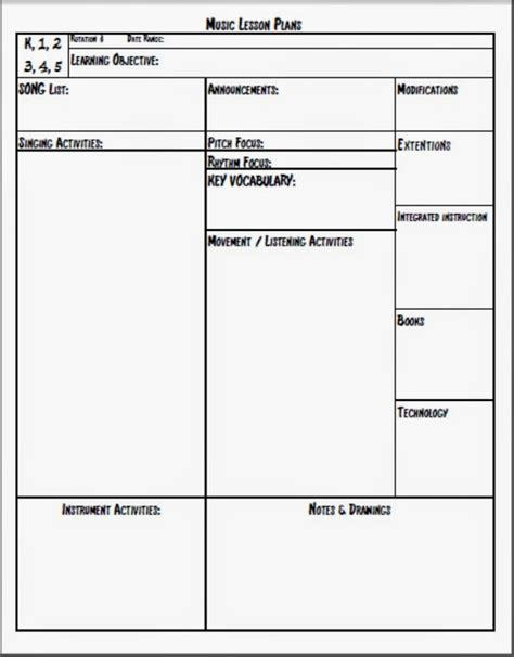lesson plan template special education melodysoup blog music lesson plan template this is the