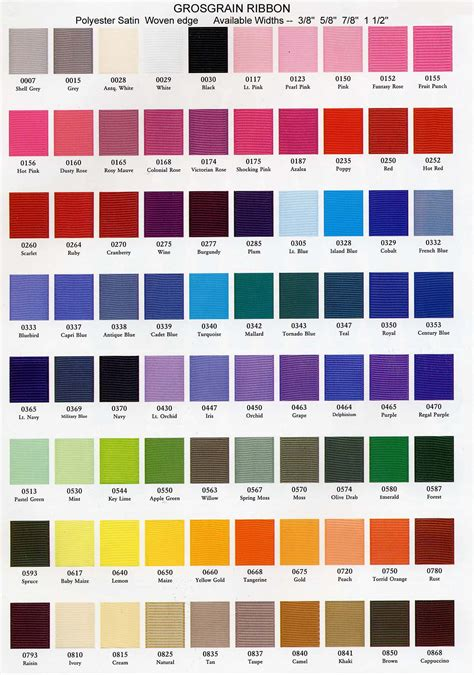 different color schemes google answers fabric ribbon