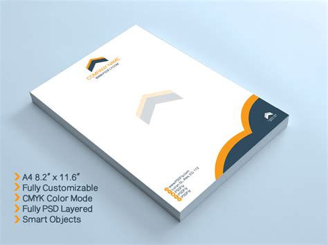 Business Letterhead Vector 15 free vector psd company letter design template
