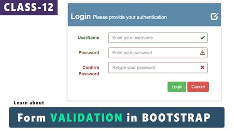tutorial bootstrap validation form validation in bootstrap bootstrap tutorials for