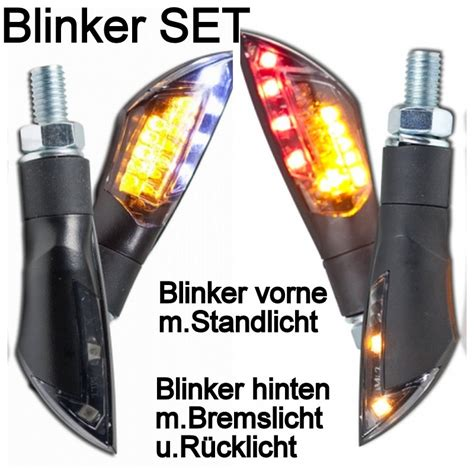 Motorrad Bremslicht Im Blinker by Motorrad Led Mini Blinker Dual Set Vorne Hinten Bremslicht