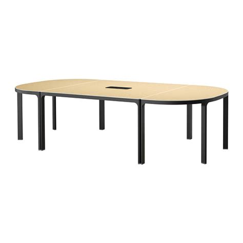 Ikea Meeting Table Bekant Conference Table Birch Veneer Black Ikea
