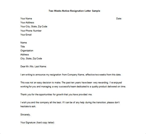 Resignation Letter Pdf by 35 Sle Resignation Letter Format Free Word Pdf Documents Creative Template