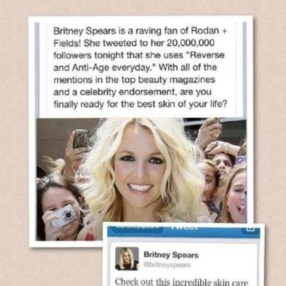 rodan and fields celebrity users brittany spears using rodan and fields rodan and fields