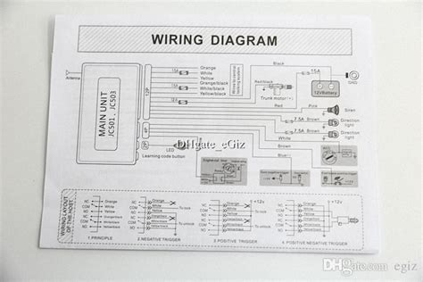 one way car alarm wiring diagram one wiring exles and
