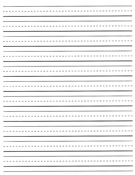 free printable elementary handwriting paper second grade ruled paper lined paper for you teaching