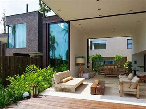 dekorasi teras  belakang rumah minimalis nyaman rumah impian