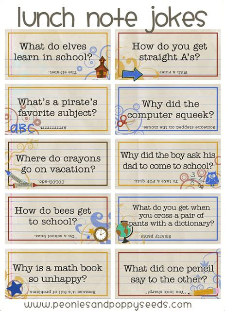 free printable short jokes school lunch quotes quotesgram