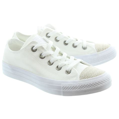 converse all snake shoes in white in white