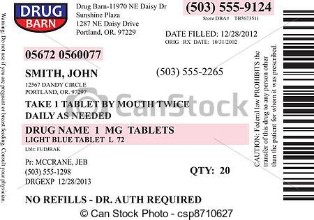 Medication Label Clipart Medication Label Template