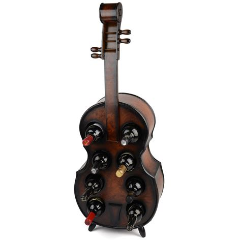 wine holder wood wine rack wooden violin bottle holder holds 8 bottles