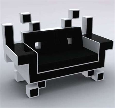 video game couch 8 bit alien couches space invader couch