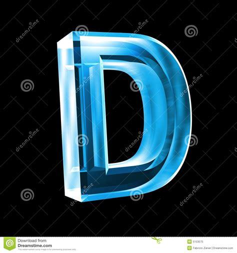 imagenes en 3d en vidrio letra d en el vidrio azul 3d foto de archivo libre de