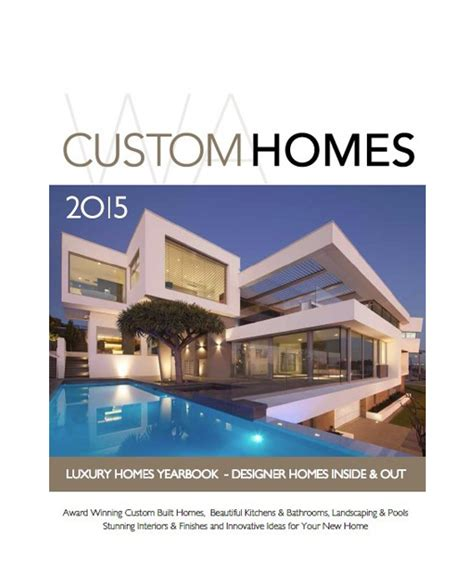 custom home magazine wa custom homes magazine buy online
