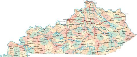 kentucky map counties and cities kentucky ky travel around usa