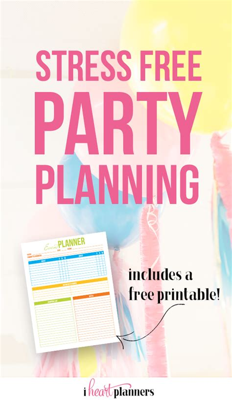 how to plan a stress free holiday party and a free stress free party planning i heart planners