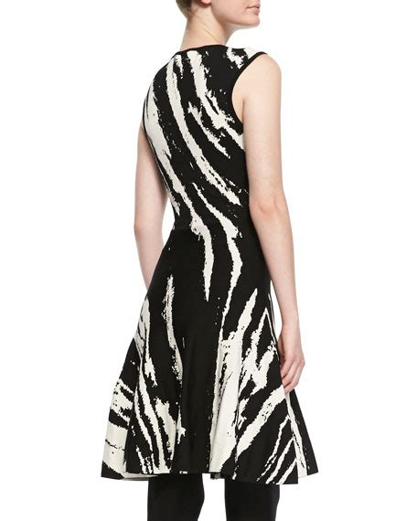 ohne titel sleeveless patterned a line dress