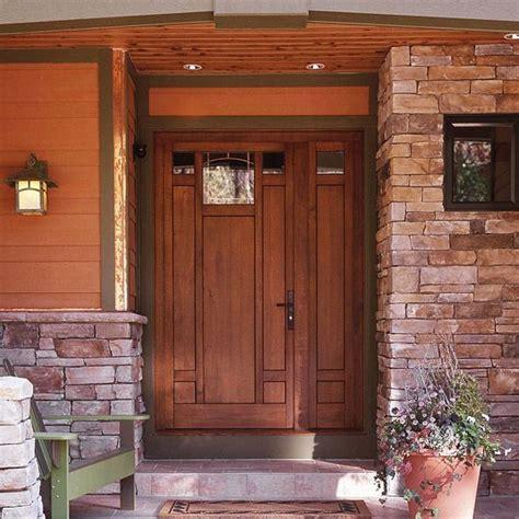Exterior Doors And Landscaping Around Front Door