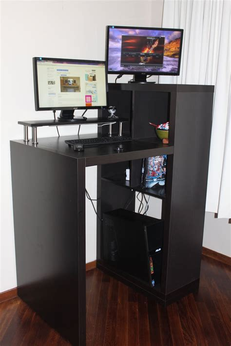 Expedit Workstation To Small Form Standing Desk Get Home Expedit Standing Desk