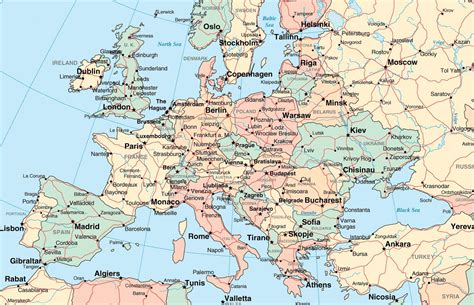 map  europe  cities  towns world map interactive