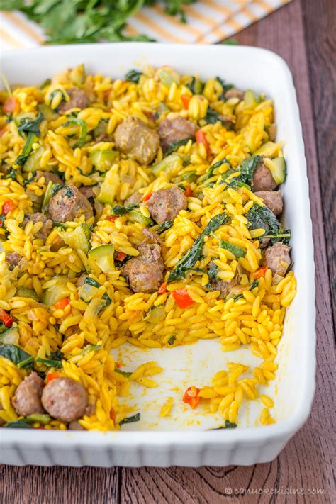 easy italian dinner recipes sausage and orzo recipes