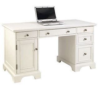 white pedestal desk home styles naples pedestal desk white finish qvc