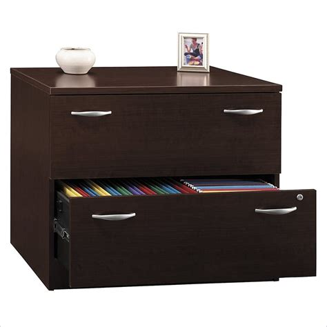 Bush Furniture Series C 2 Drawer Lateral Wood File Mocha Cherry Wood File Cabinet 2 Drawer