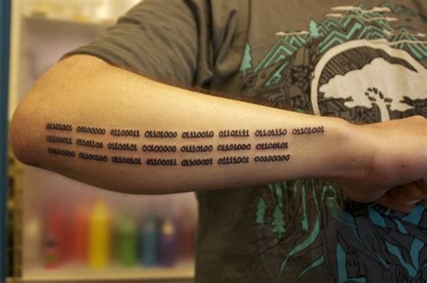 binary code tattoo by jaime vi yelp