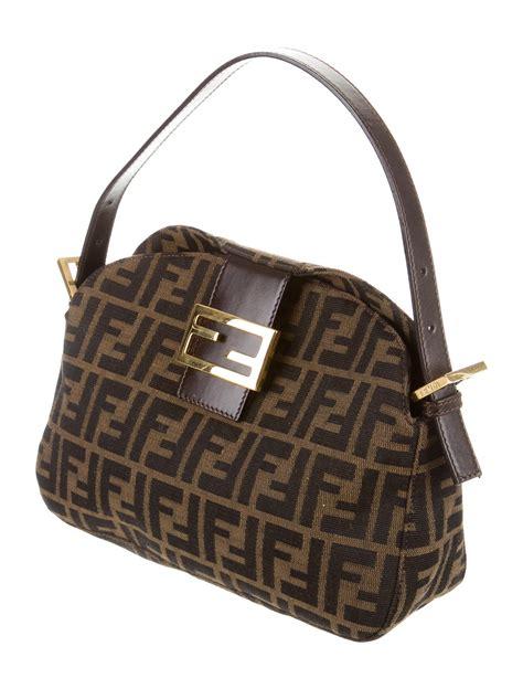 Fendi Embellished Bag by Fendi Zucca Logo Embellished Shoulder Bag Handbags