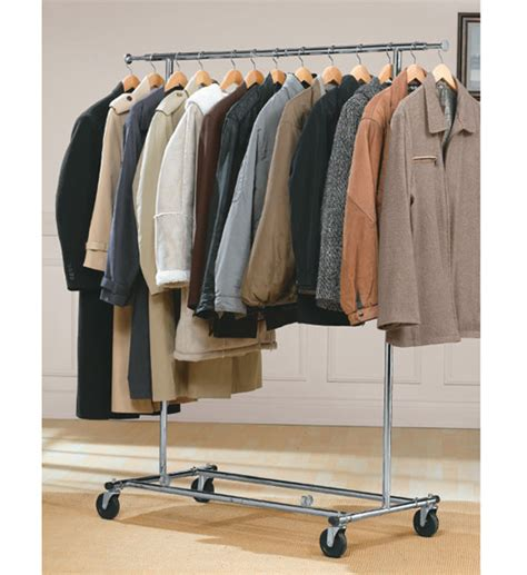 Wardrobe Racks by Commercial Chrome Garment Rack In Clothing Racks And Wardrobes
