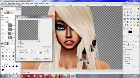 tutorial gimp imvu imvu skin edit tutorial using gimp part 1 youtube