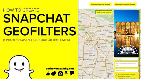How To Create A Snapchat Geofilter Tutorial Photoshop Illustrator Templates Psd And Ai How To Use Illustrator Templates
