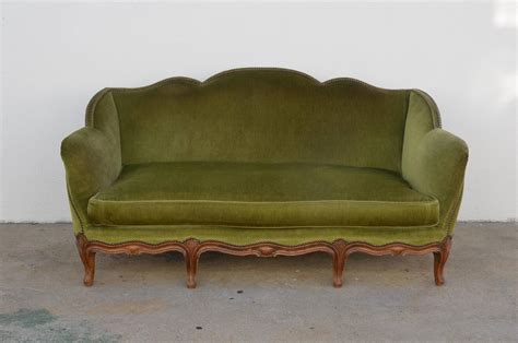 green velvet sofa for sale 1940s louis xv style green velvet sofa for