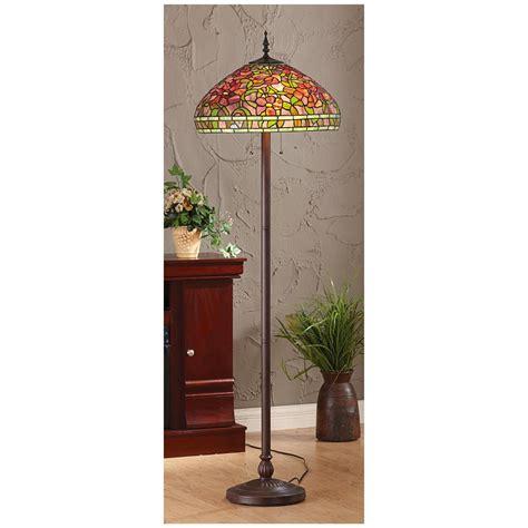 lantern style floor l amora lighting in tiffany style floor l with adjustable