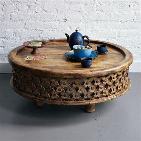 Carved Wood Coffee Table Carved Wood Coffee Table West Elm