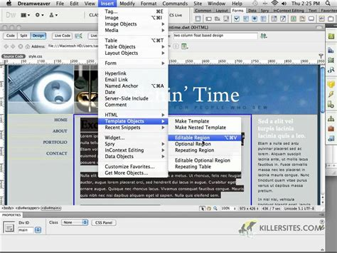 dreamweaver cs5 templates dreamweaver cs5 templates part 1