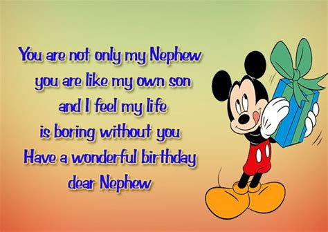 Birthday Quotes For A Nephew