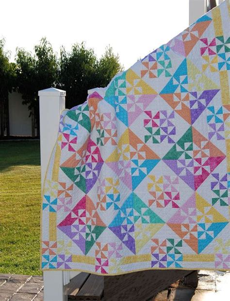 Pinwheel Patchwork - pinwheel quilt patchwork quilted throw table topper on