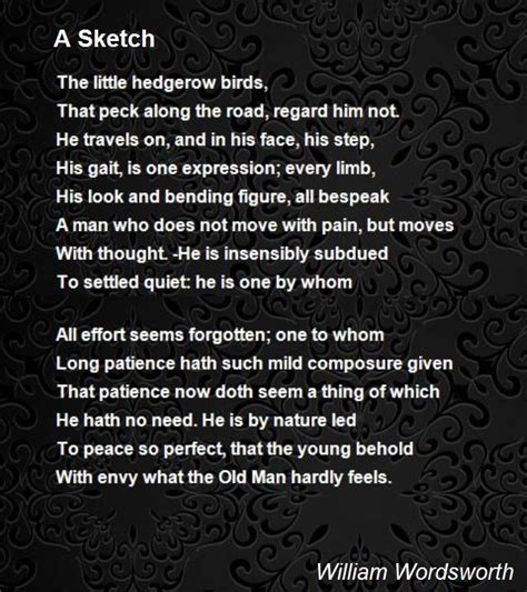 poem sketches a sketch poem by william wordsworth poem hunter