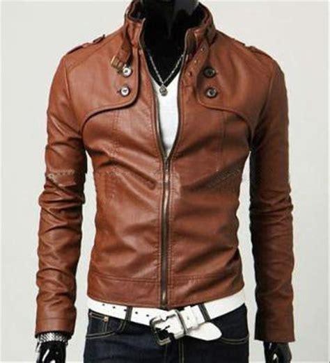 jual jaket casual brown kulit sintetis  lapak agen