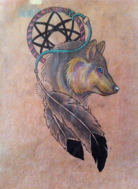 wolf dreamcatcher tattoos 25 dreamcatcher wolf designs images and pictures