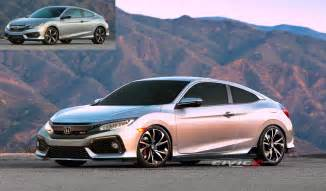 new 2017 civic si coupe render 2016 honda civic forum