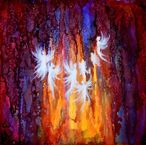 fairies lights light fairies painting by lilia d