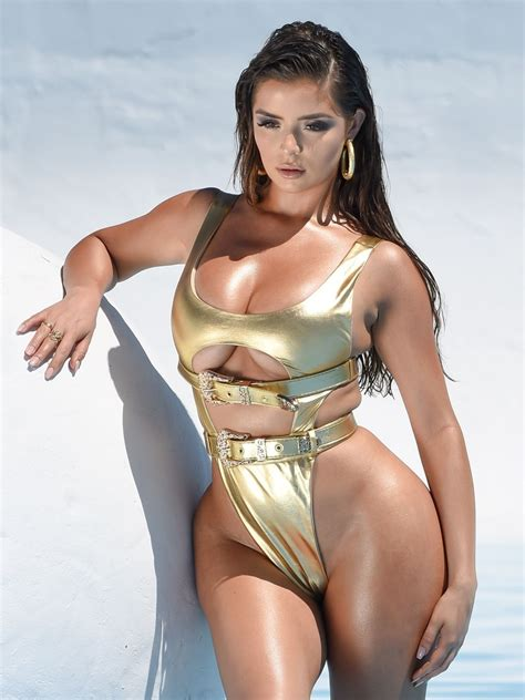 demi rose  metallic gold bikini   photoshoot  los