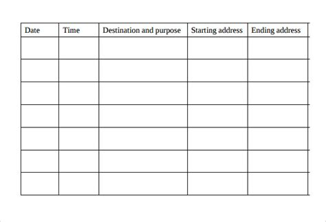 Mileage Log Template For Self Employed Shatterlion Info Mileage Log Template For Self Employed