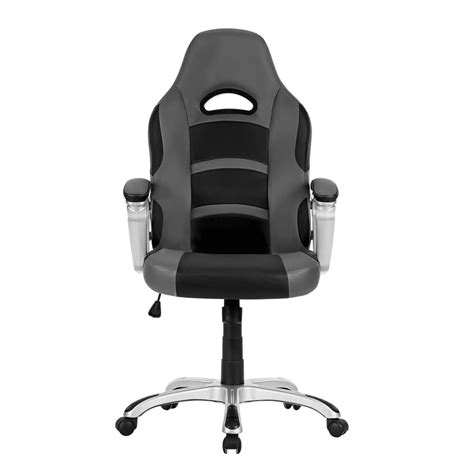 gray leather executive office chair grey ergonomic high back leather computer executive office