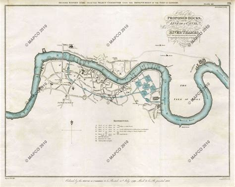 river thames surrey map map of london plan of the proposed surrey docks 1799 by