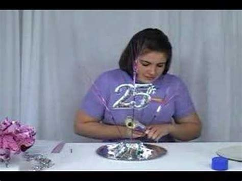 decoration ideas for 25th wedding anniversary workshop net how to make the 25 years together centerpeice youtube