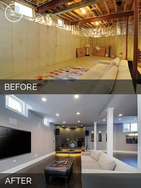 before and after basements 10 inspirational basement remodels before after